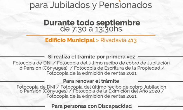 Eximición de tasas Municipales 2021