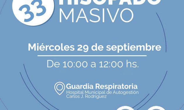 Se realizará el 33° hisopado masivo en la Guardia respiratoria del Hospital Municipal
