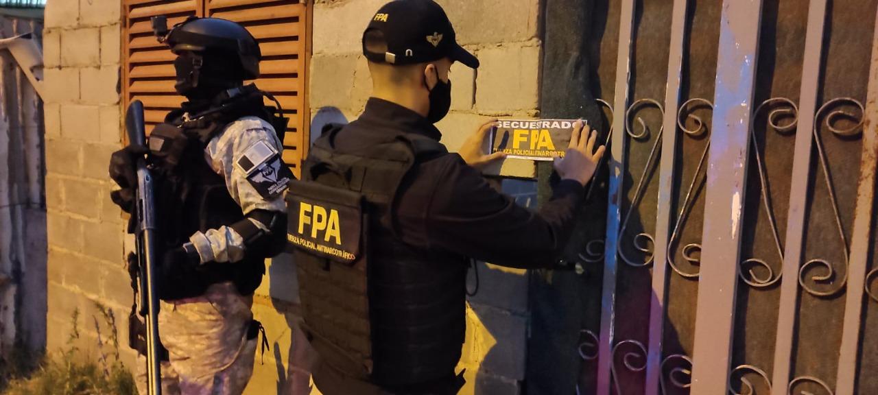 FPA confiscó una casa de drogas perteneciente a la organización vinculada a los caballos de carrera