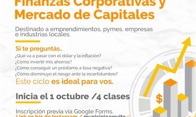 Nuevo ciclo gratuito de capacitación en finanzas corporativas y mercado de capitales
