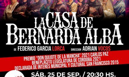 Nueva obra de teatro en Arroyito: La casa de Bernarda Alba