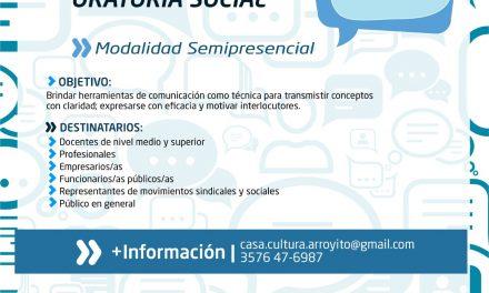 """Nuevo """"Programa intensivo en Oratoria Social"""" de la Universidad Nacional de Villa María"""