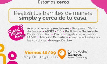 El Punto Vecino atenderá este viernes en el Centro Vecinal Xanaes