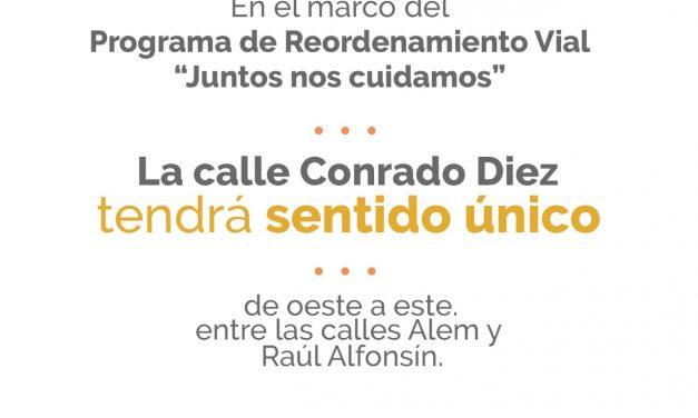 Cambio de sentido de la calle Conrado Diez