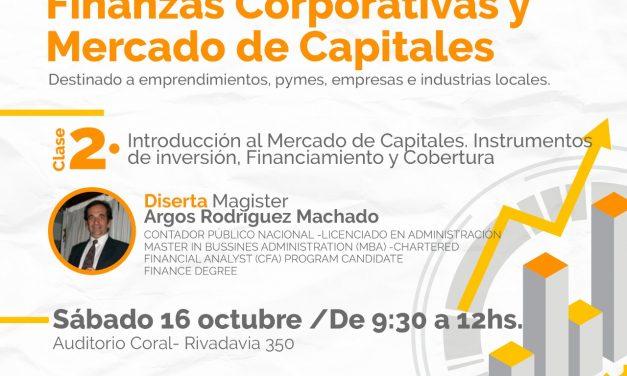 Participá de la clase 2 de la capacitación en Finanzas Corporativas y Mercado de Capitales
